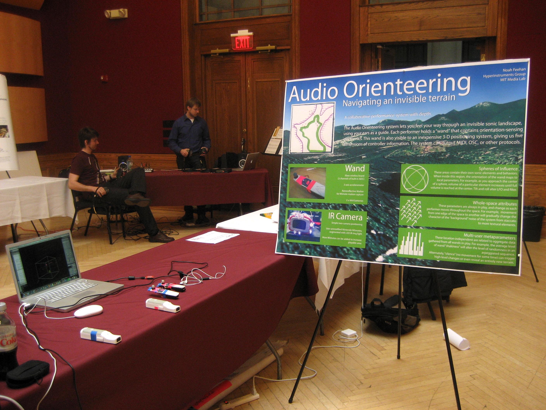Audio Orienteering at NIME 2009